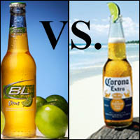 Bud Lite Light Vs. Corona