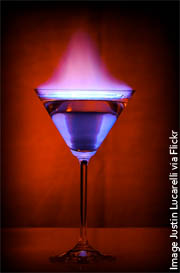 flaming-martini