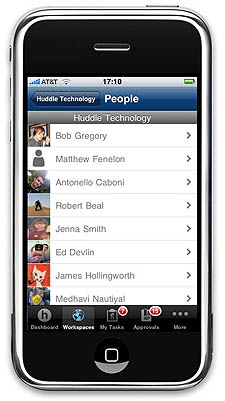 huddle-iphone-application