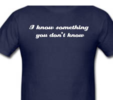 i-know-something-shirt