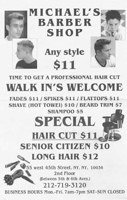 Michaels Haircut Flyer-