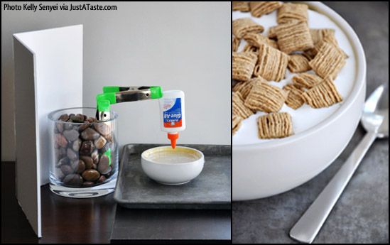 Elmers Glue w Cereal Food Blogging Photo