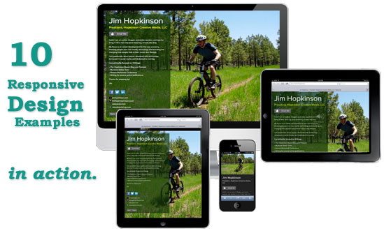 responsive design examples in action